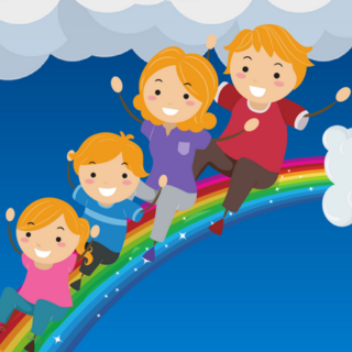 Meditation name: Meditation for Children: Riding on a Rainbow