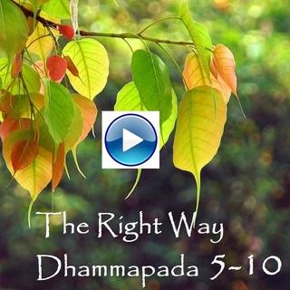 Meditation name: The Right Way: Dhammapada Verse 5-10