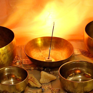 Meditation name: Crystal Singing Bowls with Campfire