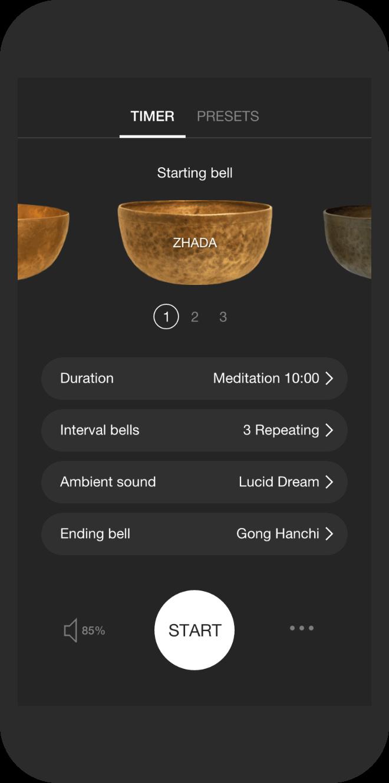 Timer screenshot on Insight Timer's mobile app